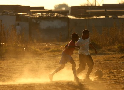 Soweto Children Playing Football